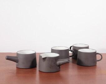 Dansk stoneware creamer and sugar set