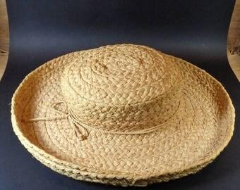 Helen Kaminski Wide-Brim Hat Vintage Women's Straw Hat- Natural Straw Wide Brim Ladies Hat- Summertime Sun Hat Helen Kaminski  Australia