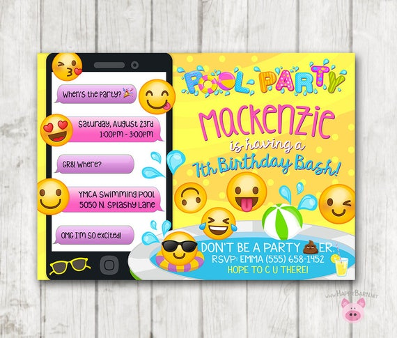 like this item - Swimming Party Invitations