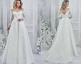 Mina - Sheath Style Wedding Dress with Train