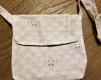 Panda mini messenger bag