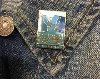 Vintage Columbia River Gorge (stock# 940) hat pin, lapel pin, enamel pin, oregon, washington, pacific northwest,