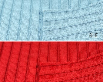 Textured 6x4 Rib Knit Fabric (Wholesale Price Available By the Bolt) USA Made Premium Quality - 4169  1 Yard