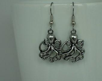 Creepy Octopus Earrings