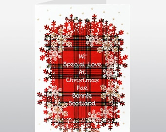Christmas Wi Special Love From Scotland Card WWXM68