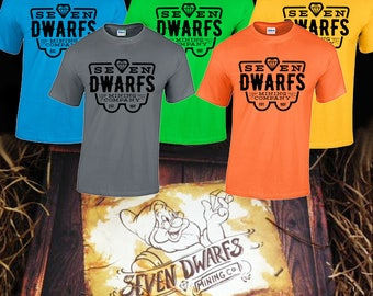 Seven dwarfs mining company tee shirt mine coaster shirt disney world disneyland Snow White and the seven dwarfs magic kingdom fantasyland