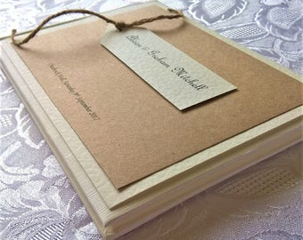 Hand Crafted Personalised 'Amelia' Wedding Guest Book Sample Rustic Vintage Twine
