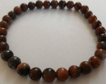 Brecciated Jasper brechia bracelet or brecciated 8 mm beads