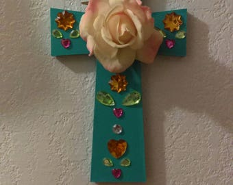 Flower Cross Wall Decoration