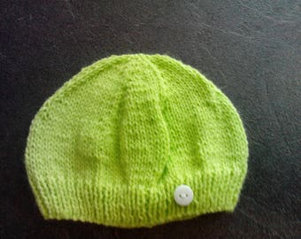 birth size pistachio green baby Hat