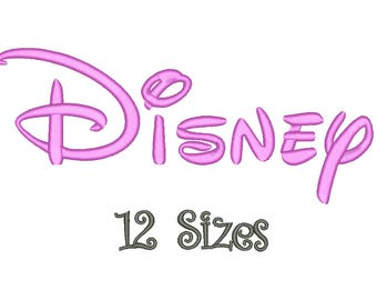 SALE** Disney Embroidery Font 12 Sizes Machine BX Embroidery Fonts Alphabets Embroidery Designs PES - Instant Download