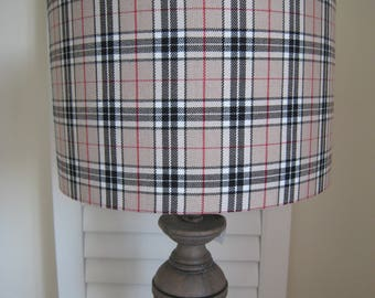 Red/ Brown Tartan Lamp Shade