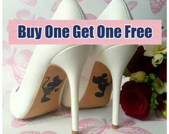 Wedding Shoe Decal Sticker / Mickey and Minnie Mouse / Happily Ever After / Love / Marriage