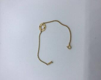 Tiffany & Co 18t yellow gold Atlas diamond bracelet
