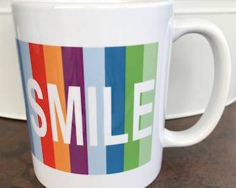 Big Bang Theory Coffee Mug, SMILE Mug, Rainbow Coffee Mug