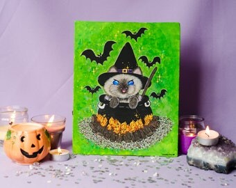 Witch kitty - original painting