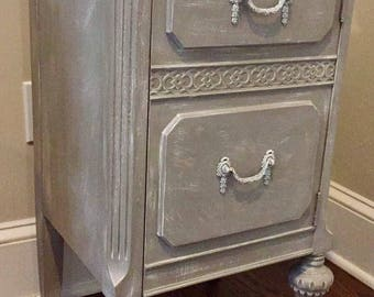 Shabby chic Nightstand or End table- local pick up/delivery only