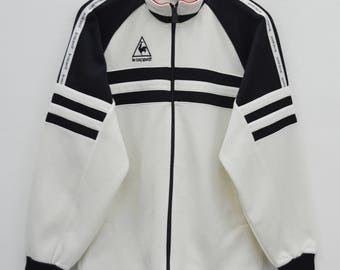 LE COQ SPORTIF Track Top Vintage 90's Le Coq Sportif Colorblock Stripes Made In Japan Track Top Zipper Jacket Sweater Size M