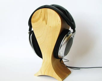 The best headphones friendly Wooden stand of cherry