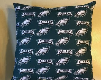 NFL PHILADELPHIA EAGLES Football Throw pillow, sports fan, decorative pillow, gift, pillow cover, man cave, official fabric