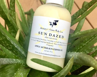 Sun Dazed - After Sun Cream, Aloe Vera Lotion, After Sun Lotion, Sunburn Relief, Sunburn Lotion, Cooling Cream, 4oz.