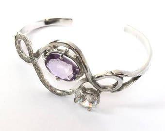 Amethist Bangle Bracelet