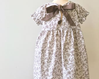 """Baby/toddler dress with puffed sleeves with large bow at the back """"Josephine"""""""