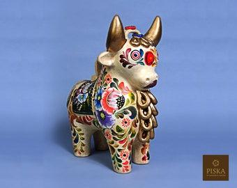 """Pucará Bull Hanpainted in Ceramic - 12.8"""" High"""