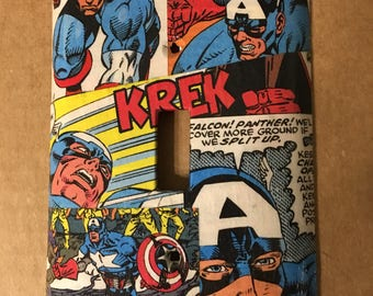 Captain America light switch cover
