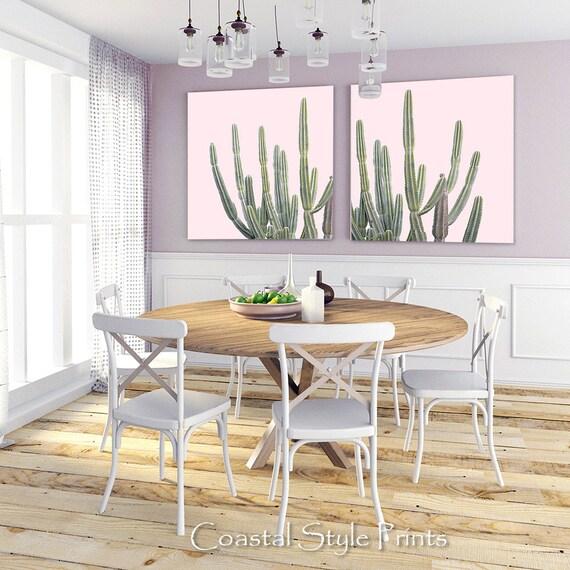 Pink Cactus Prints Wall Decor Succulents Nursery Art Australia Botanical Gifts