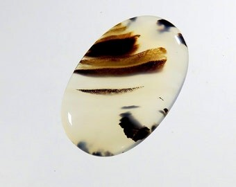40Cts Montana Agate Gemstone Cabochon Oval Shape AAA Top Quality Natural Montana Agate Gemstone for Jewelry Making Gems 38X25X5mm