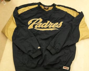 Vintage Padres side zip pull over