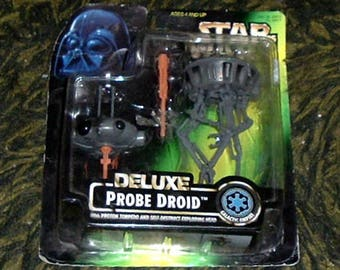 STAR WARS Deluxe Probe Droid - Proton Torpedo and Self-Destruct Exploding Head (NIP)