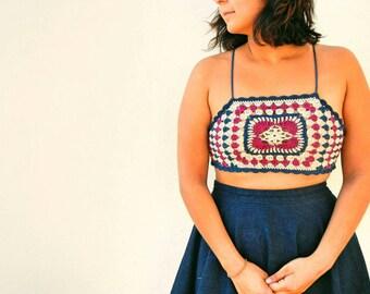 Ready to ship Eternity Crochet Crop Top