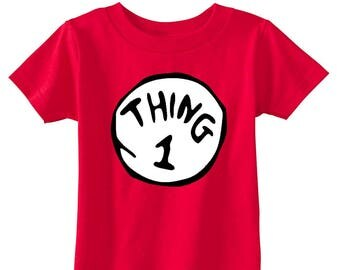 Infant's/Toddler's Thing 1 and Thing 2 Rabbit Skins Cotton Jersey T-Shirts