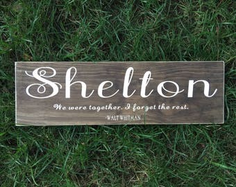 Family Name Sign, Custom Quote On Wood, Name Wall Decor, Last Name Wood Sign, Cursive Name Sign, Personalized Name and Quote on Wood