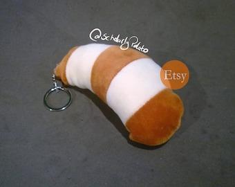 plushie tail  key ring