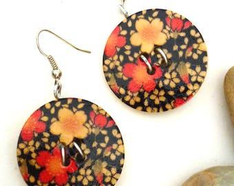 """Earrings """"Flower buttons"""""""