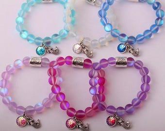 Mermaid bracelet, mood bracelets, mermaid earrings, mermaid tee,lokai  bracelet, mermaid jewelry, mermaid at heart, really a mermaid