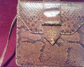 1930s/ 40s Vintage Snake Skin Shoulder Handbag / Purse
