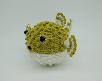 Made to Order: Crochet Puffer Fish, Crochet  Fish, Amigurumi Fish, Plush Fish Toy, Fish Plushie, Soft fish toy