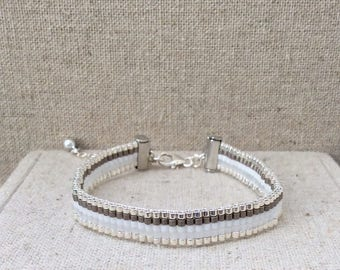 The Lou bracelet in shades of grey