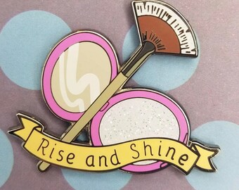 Rise and Shine Highlighter enamel pin