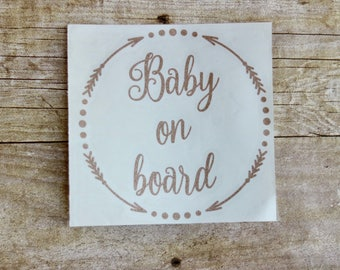 Baby on Board Car Decal, First Baby, Babies on Board, Baby Sticker, Mom Car Decal, Car Sticker, Baby on Board, Custom Car Decal, New Baby