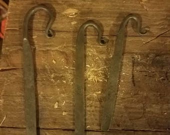 Hand forged steel book mark. Christmas or holiday gift.