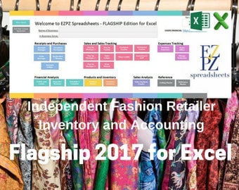 2017 Flagship Version for Excel - Inventory and Accounting for Independent Fashion Retailers