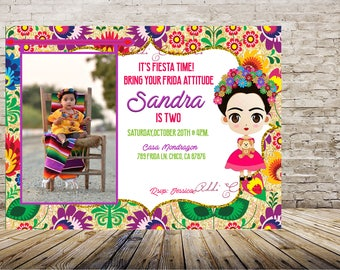 Frida Kahlo Invitation, Frida Invitations, Fridita Invitations, Invitaciones Frida Kahlo, Invitaciones Frida,