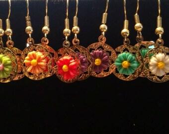 SALE!!! Flower Earrings