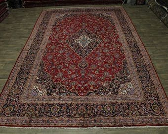 Great Shape Oversized Traditional Kashan Persian Rug Oriental Area Carpet 10X16