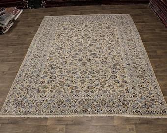 Excellent Allover Handmade Light Kashan Persian Area Rug Oriental Carpet 9X12